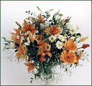 Beau bouquet en camaieu orange